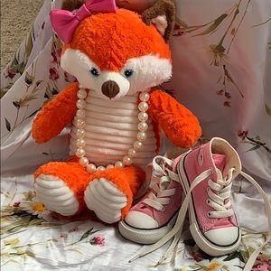 Pink Toddler Girls Converse Size 4